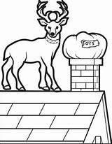 Reindeer Coloring Roof Printable Christmas Pages Sheets Designlooter 51kb 387px sketch template
