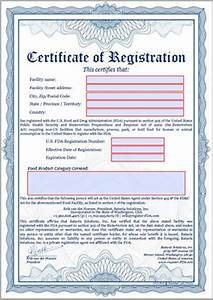 What Is A Medical Certificate Register Food Facility In U S A Register Fda