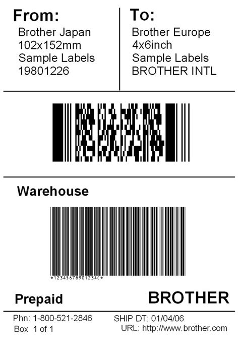 shipping label template word excel formats