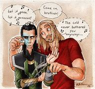 Thor and Loki Let It Go