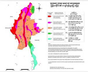 Seismic Zone Map Myanmar