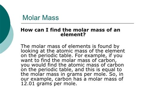 molar mass problems