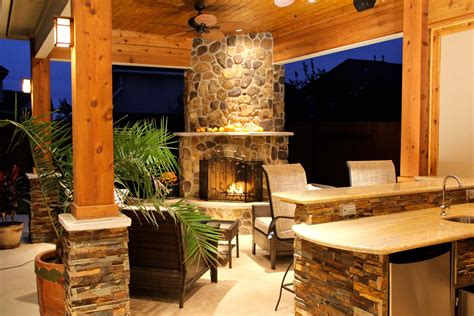 patio cover  fireplace kitchen  firethorne texas