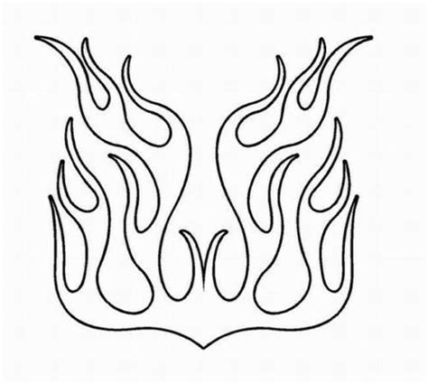 flame outline decal  vinyl graphic hood car truck suv