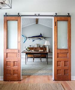20 home offices with sliding barn doors for Barn style doors for house