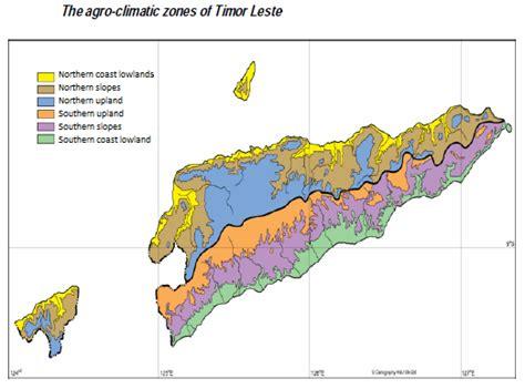 Timor Leste — Climate Regions Of East Timor