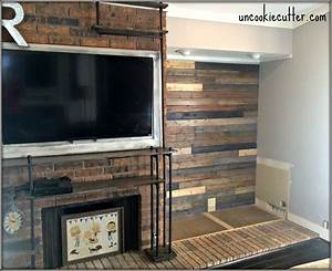 mixed wood wall easy cheap diy uncookie cutter With cheap reclaimed wood wall