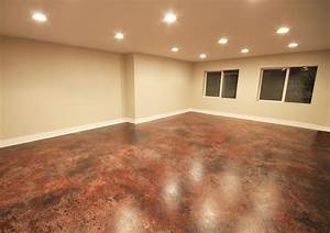 concrete basement floor finishing ideas ahscgscom With how to finish a concrete basement floor