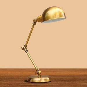 industrial desk lamp adjustable arm with 6 inch wide gold With 6 inch table lamp