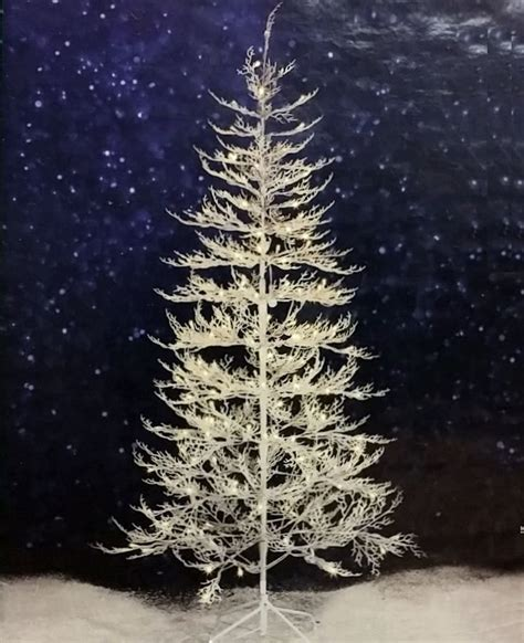 7 ft winter white twig tree with led lights indoor