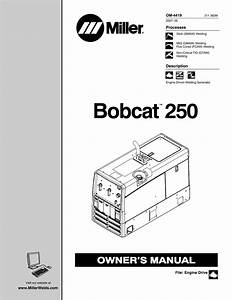 Miller Electric Bobcat 250 User Manual