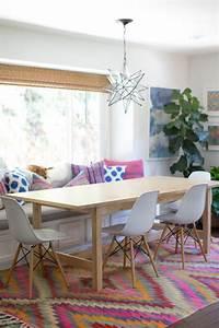 pourquoi choisir une table avec banquette pour la cuisine With salle À manger contemporaine avec tapis esprit scandinave
