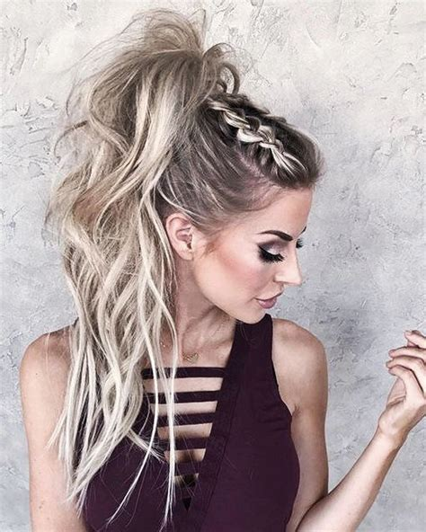 Braided Ponytail Hairstyles For by 50 Beautiful Easy Updos For Trendy Haired