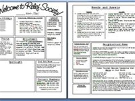 lds relief society newsletter ideas images