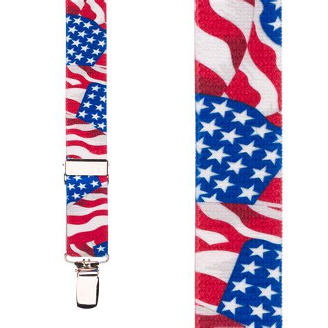 AMERICAN FLAG Suspenders for Kids SuspenderStore