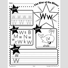 Free Letter W Worksheet Tracing, Coloring, Writing & More! Supplyme