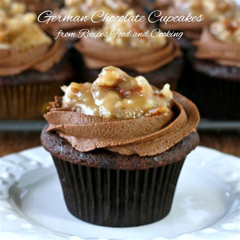 cuisine cupcake german chocolate cupcakes recipes food and cooking