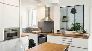 comment amenager sa cuisine ouverte With wonderful plan maison en u ouvert 9 cuisine avec verriare