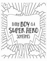 Coloring Pages Hero Super Superhero Colouring Sheets Boy Printable Boys Quotes Lilluna Adult Quote Spiderman Del Background Version Templates sketch template