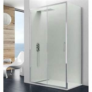 Paroi De Douche : paroi de douche coulissante verres fixes porte pas cher ~ Melissatoandfro.com Idées de Décoration