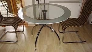 Glastisch Rund 50 Cm : glastisch esstisch rund 110 cm von tempered in trier speisezimmer essecken kaufen und ~ Indierocktalk.com Haus und Dekorationen