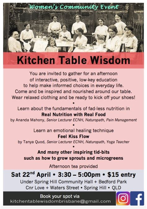 kitchen table wisdom kitchen table wisdom support healing from within