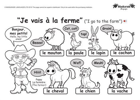 ks1 french level 1 farm and zoo animals zoos farming