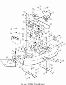 Troy Bilt 13ax60tg766 Super Bronco  2006  Parts Diagram For Deck Assembly