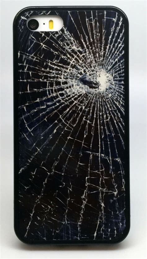 fake cracked shattered screen phone case iphone