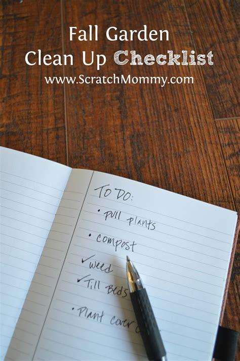 fall garden clean up checklist pronounce scratch