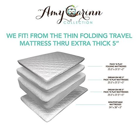 mattress for pack n play acc pack n play mattress cover fits portable and mini