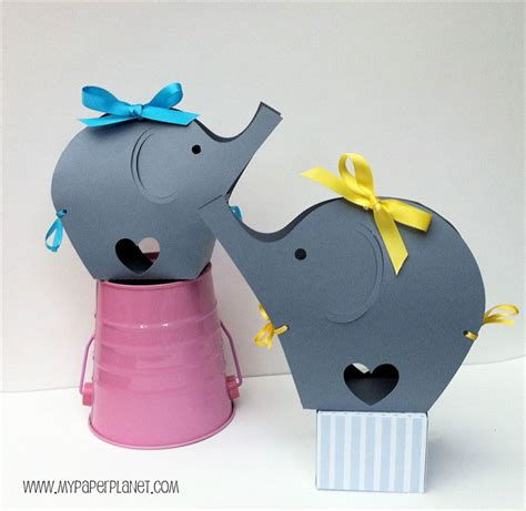 Build your own · gifts with attitude · custom gifts she'll love Grey Elephant Baby Shower gift boxes. Baby gift bag, first ...