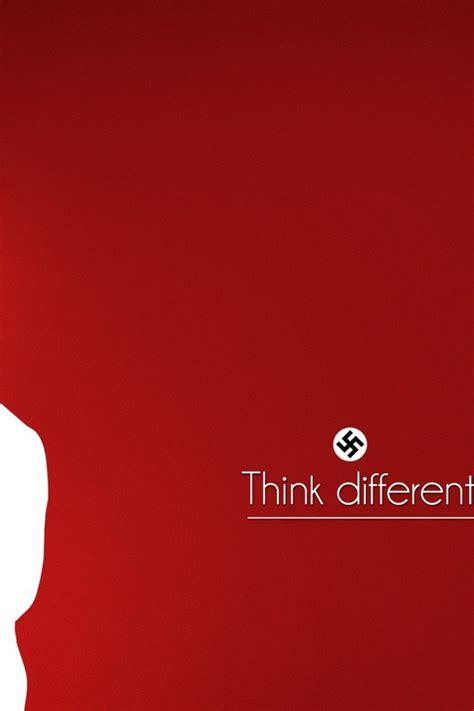 minimalistic text nazi adolf hitler red background
