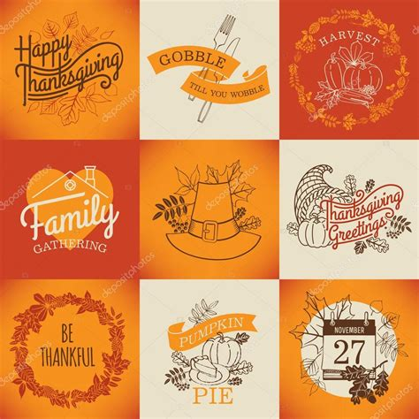 thanksgiving items list happy thanksgiving lettering items stock vector 169 masha tace 60824541