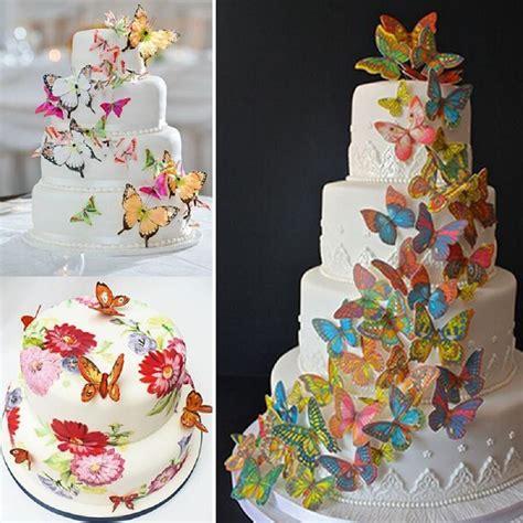 pcs  edible butterfly cake decoration wedding birthday