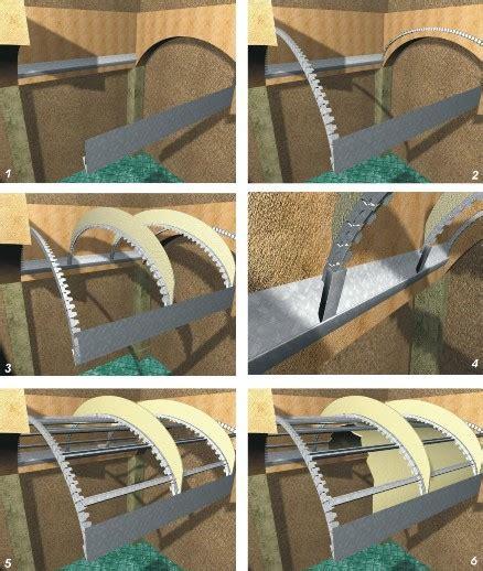 soffitti a botte soffitti curvi volta a botte vertebra controsoffitti
