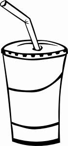Soft Drink In A Cup (b And W) Clip Art at Clker.com ...