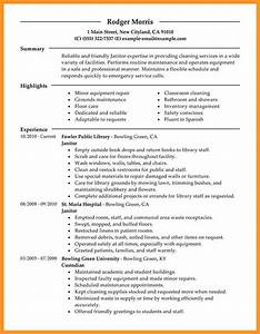 mercial cleaning resume examples