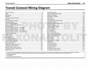 2014 Transit Connect Wiring Diagram Manual