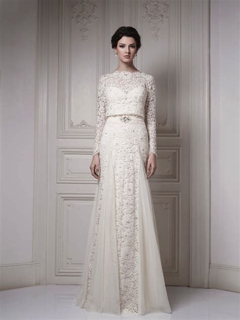 gorgeous lace sleeve wedding dresses
