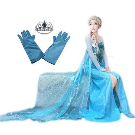 robe de chambre disney adulte magnifique panoplie elsa adulte robe gants achat