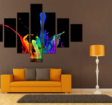 color spash abstract art print artwall