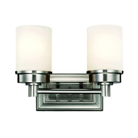 hton bay vanity light hton bay transitional 2 light brushed nickel vanity