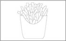 food theme coloring  tracing pages