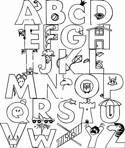 Coloring Alphabet Pages Letters Letter Numbers