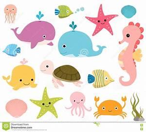 Cute Baby Cartoon Sea Animals