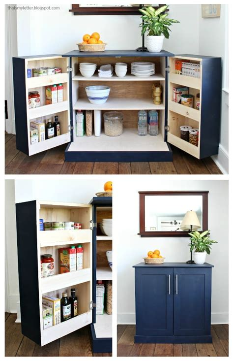Free Standing Pantry Cabinet by Diy Freestanding Kitchen Pantry Cabinet Jaime Costiglio