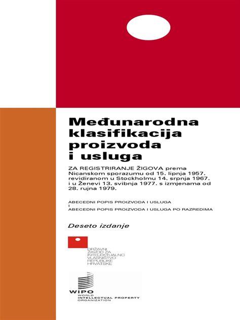 Međunarodna klasifikacija proizvoda i usluga: Deseto izdanje