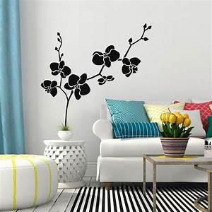 sticker orchidees dansantes stickers nature fleurs With chambre bébé design avec comment envoyer des fleurs pour un enterrement