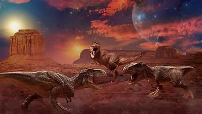 Animals Dinosaurs Ancient Painting Three Wallpapers13 Desktop